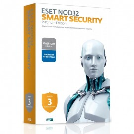 ESET NOD32 Smart Security Platinum- лицензия на 2 года на 3ПК