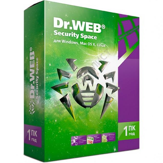Dr.Web Security Space Комплексная защита на 1 год