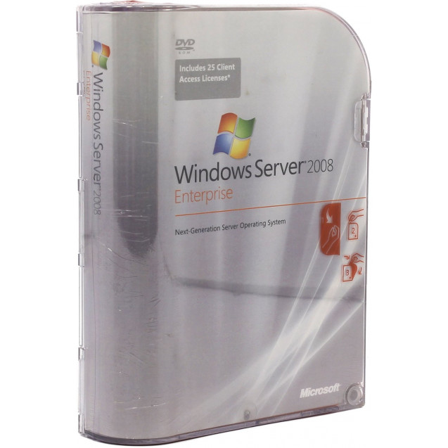 Microsoft Windows Server Enterprise 2008 R2 w/SP1 x64 Russian 1pk DSP DVD 1-8CPU
