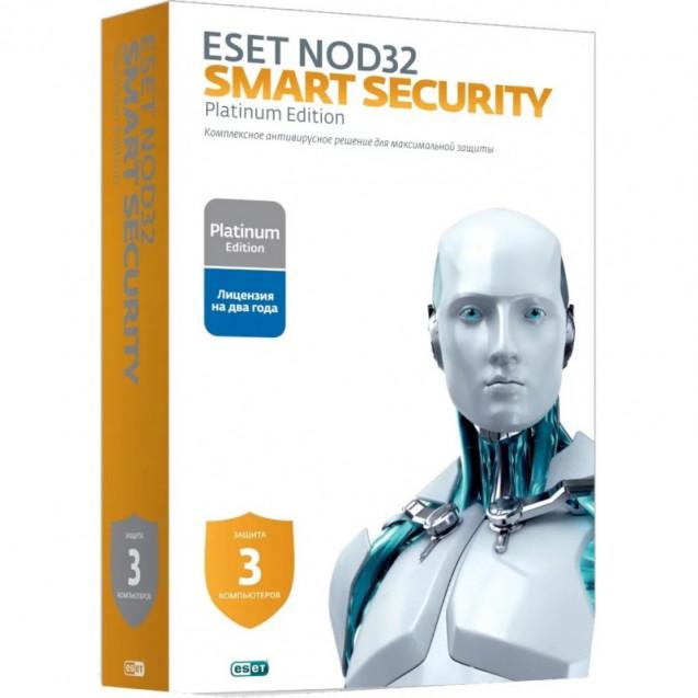 Eset NOD32 Smart Security Platinum Edition - лицензия на 2 года на 3ПК